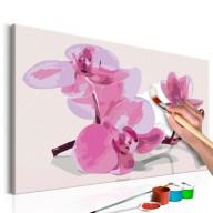 Obraz do samodzielnego malowania  Kwiaty orchidei