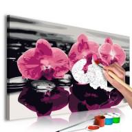 Obraz do samodzielnego malowania  Trzy orchidee