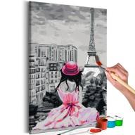 Obraz do samodzielnego malowania  Paryż  widok na Wieżę Eiffla