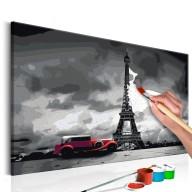 Obraz do samodzielnego malowania  Paryż (Czerwona limuzyna)