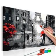 Obraz do samodzielnego malowania  Zakochani w Paryżu