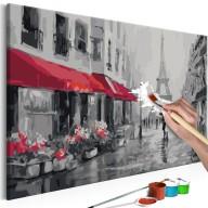 Obraz do samodzielnego malowania  Paryż skąpany w deszczu