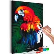 Obraz do samodzielnego malowania  Papuga