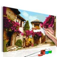 Obraz do samodzielnego malowania  Śródziemnomorskie miasteczko