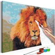 Obraz do samodzielnego malowania  Lion