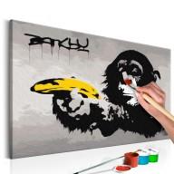Obraz do samodzielnego malowania  Małpa (Banksy Street Art Graffiti)