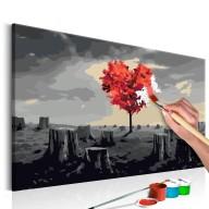 Obraz do samodzielnego malowania  Drzewo w kształcie serca
