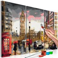 Obraz do samodzielnego malowania  Londyńska ulica