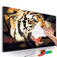 Obraz do samodzielnego malowania  Ryczący tygrys