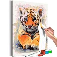 Obraz do samodzielnego malowania  Tygrysiątko