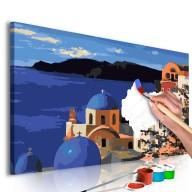 Obraz do samodzielnego malowania  Santorini