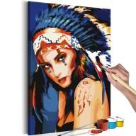 Obraz do samodzielnego malowania  Indianka