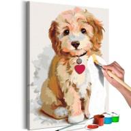 Obraz do samodzielnego malowania  Piesek (szczeniak)
