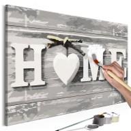 Obraz do samodzielnego malowania  Home (napis)