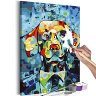 Obraz do samodzielnego malowania  Pies (portret)