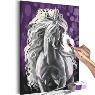 Obraz do samodzielnego malowania  Biały jednorożec