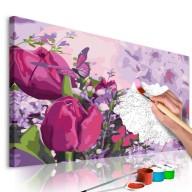 Obraz do samodzielnego malowania  Tulipany (łąka)