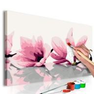 Obraz do samodzielnego malowania  Magnolia (białe tło)