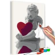 Obraz do samodzielnego malowania  Aniołek (czerwone serce)