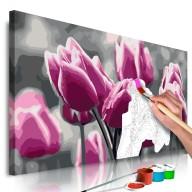 Obraz do samodzielnego malowania  Pole tulipanów