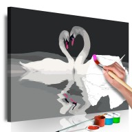 Obraz do samodzielnego malowania  Para łabędzi