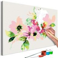 Obraz do samodzielnego malowania  Kolorowe kwiatki