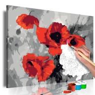 Obraz do samodzielnego malowania  Bukiet maków