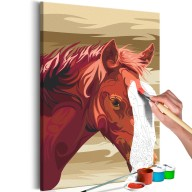 Obraz do samodzielnego malowania  Gniady koń