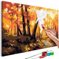 Obraz do samodzielnego malowania  Leśna ścieżka