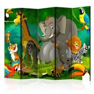 Parawan 5częściowy  Kolorowe safari II [Room Dividers]