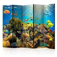 Parawan 5częściowy  Podwodny świat II [Room Dividers]
