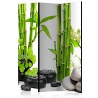Parawan 3częściowy  Bambusy i kamienie [Room Dividers]