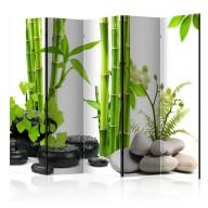 Parawan 5częściowy  Bambusy i kamienie II [Room Dividers]
