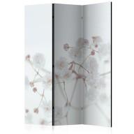 Parawan 3częściowy  Białe kwiaty [Room Dividers]