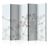 Parawan 5częściowy  Białe kwiaty II [Room Dividers]