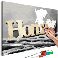Obraz do samodzielnego malowania  Home na gałęziach