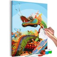 Obraz do samodzielnego malowania  Kolorowy Dragon