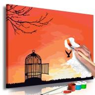Obraz do samodzielnego malowania  Otwarta klatka