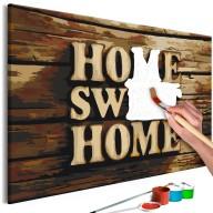 Obraz do samodzielnego malowania  Drewniane home