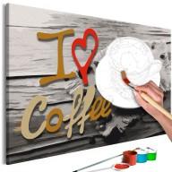 Obraz do samodzielnego malowania  Kocham kawę