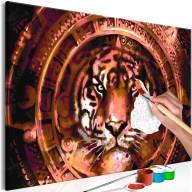 Obraz do samodzielnego malowania  Tygrys i ornamenty