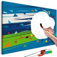 Obraz do samodzielnego malowania  Strzał i gol!