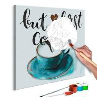 Obraz do samodzielnego malowania  Najpierw kawa