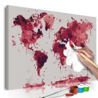 Obraz do samodzielnego malowania  Akwarelowa mapa