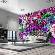 Fototapeta  Foletowe graffiti