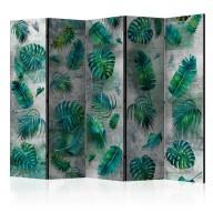 Parawan 5częściowy  Modernistyczna dżungla II [Room Dividers]