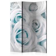 Parawan 3częściowy  Atłasowa róża (turkusowy) [Room Dividers]