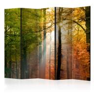 Parawan 5częściowy  Kolory lasu [Room Dividers]