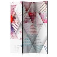 Parawan 3częściowy  Świat trójkątów [Room Dividers]