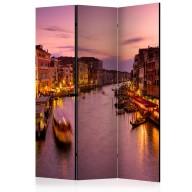 Parawan 3częściowy  Miasto zakochanych  Wenecja nocą [Room Dividers]